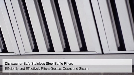Miele's Range Hood Baffle Filters and CleanCover