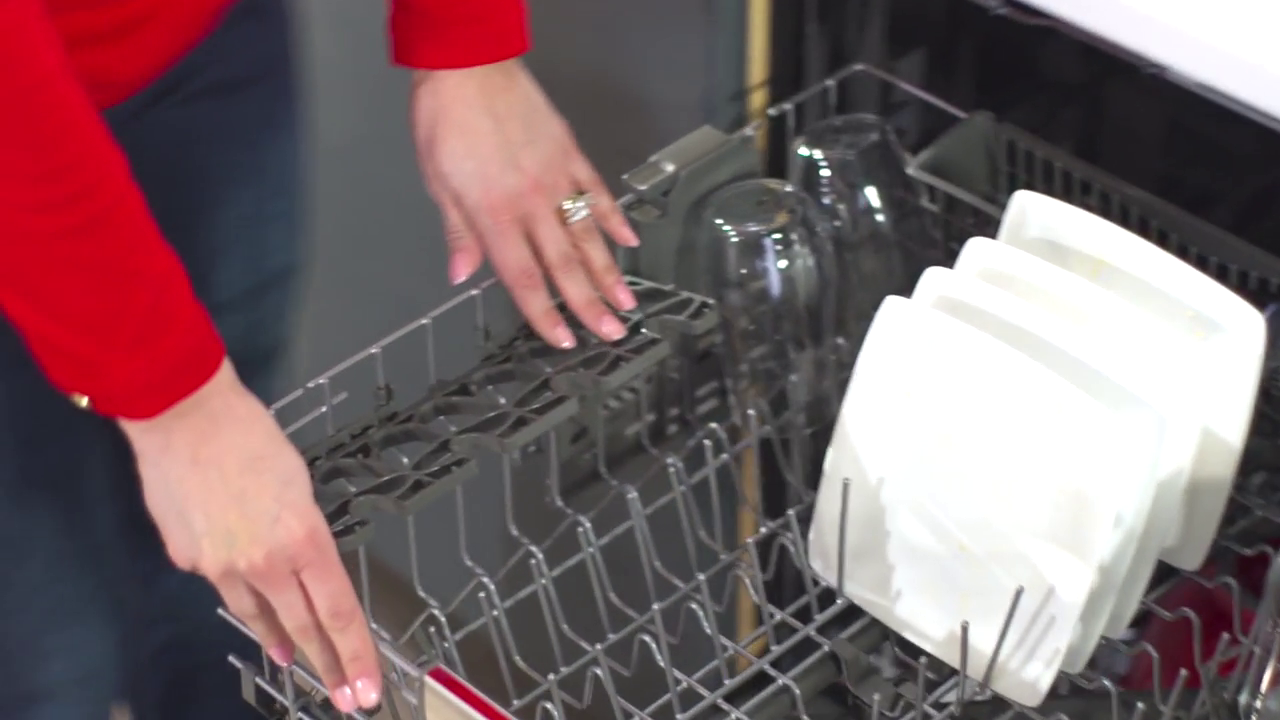 KitchenAid: Dishwashers - Fold-Down Cup Shelves